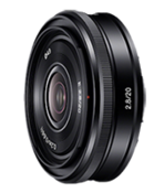 New Sony E-mount 20mm f/2.8 pancake announced