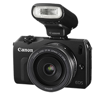 Canon EOS-M with 22mm f/2 lens & 90EX Flash for $399