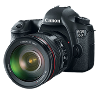 Canon EOS 6D Body $1,599 and kit for $2,084!