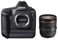 Canon EOS-1D X for $5,599 and EF 24-70 f/4L IS for $919