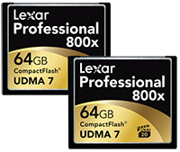 Save up to $90 on Lexar Memory Cards