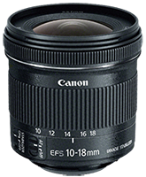 In Stock: Canon EF-S 10-18mm f/4.5-5.6 IS STM lens