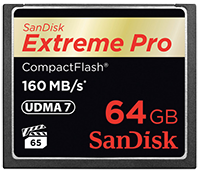 SanDisk CompactFlash Memory sale at B&H Photo