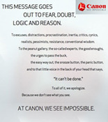 At Canon, We See Impossible Teaser
