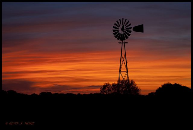 South Texas Windmill Sunset - FM Forums