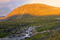 Apline Glow on Mt. Duval, Baffin Island