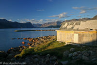 Last Light on the Oldest Building in Town, Baffin Island