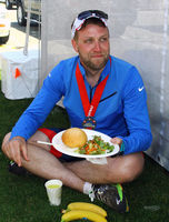 my son, Nathan after finishing Escape from Alcatraz Triatholon