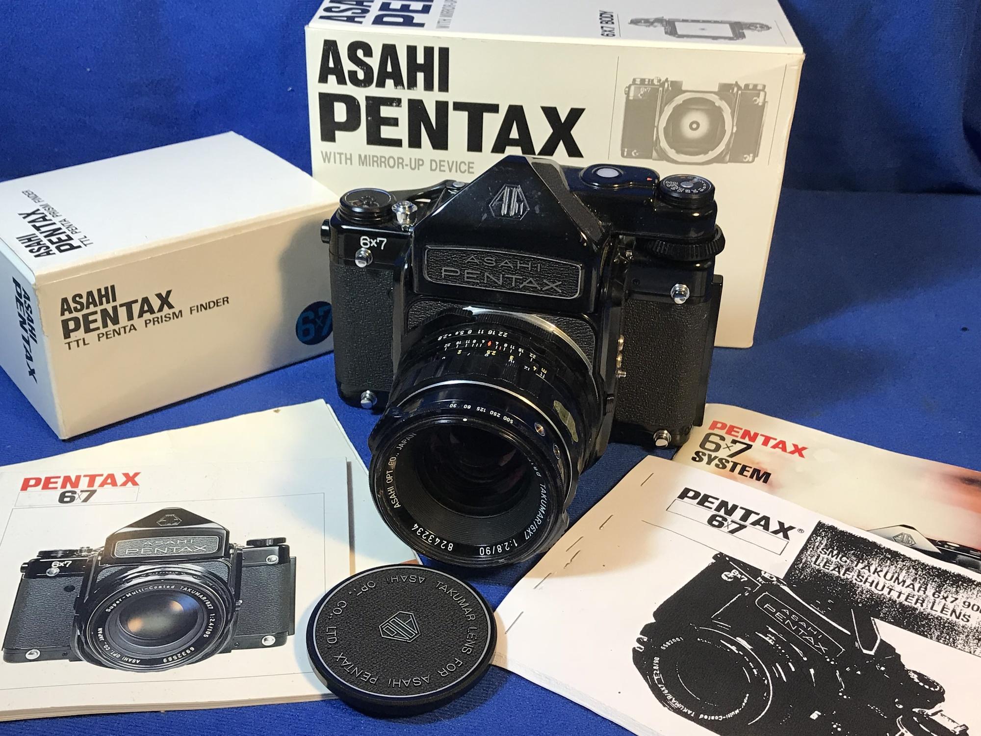 Sold: Pentax 67 6X7 TTL SLR Mirror-up Camera SMC Takumar f/2 8 90mm