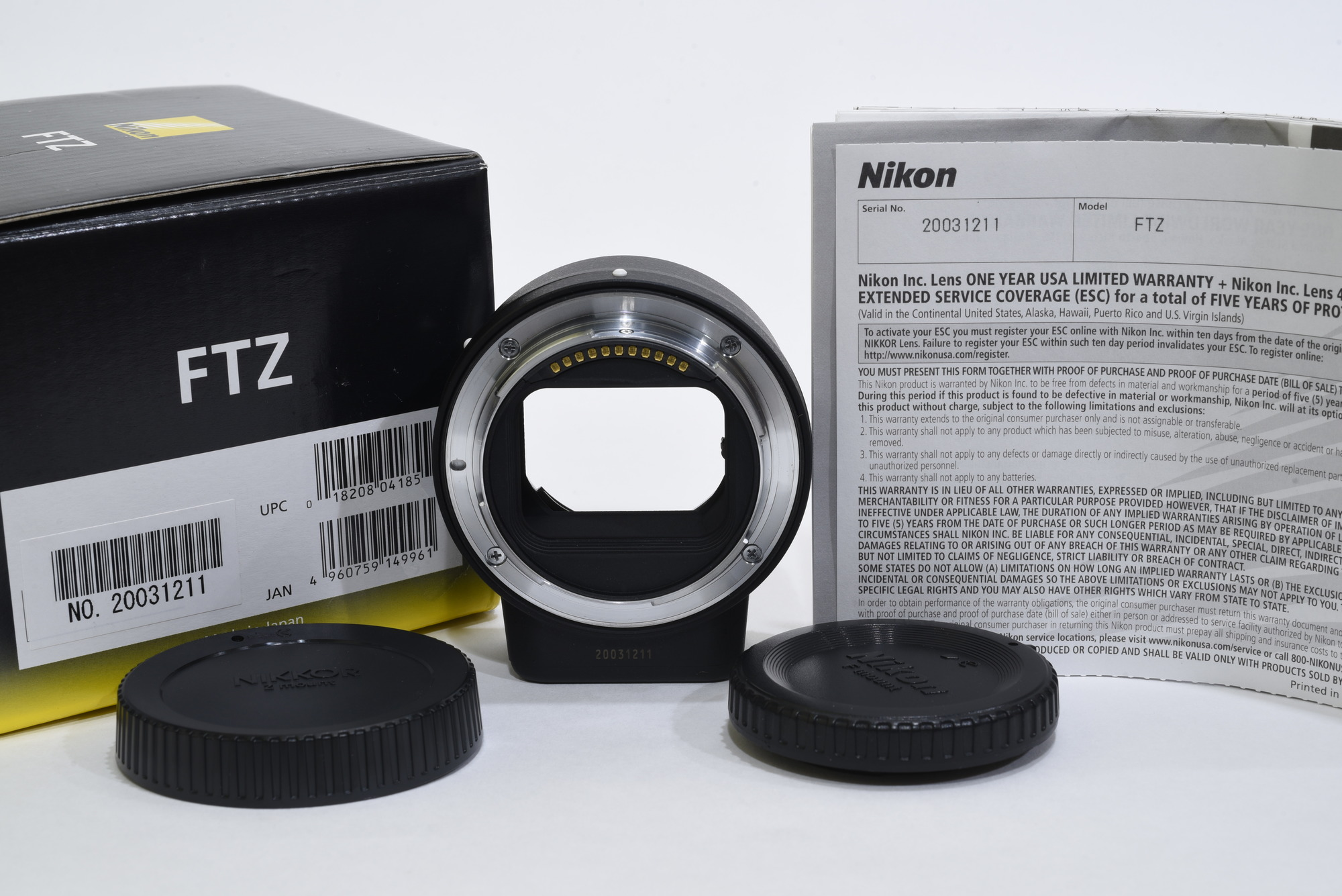 Sold: Nikon Nikkor Z 24-70mm f/4 and Nikon FTZ Adapter - FM