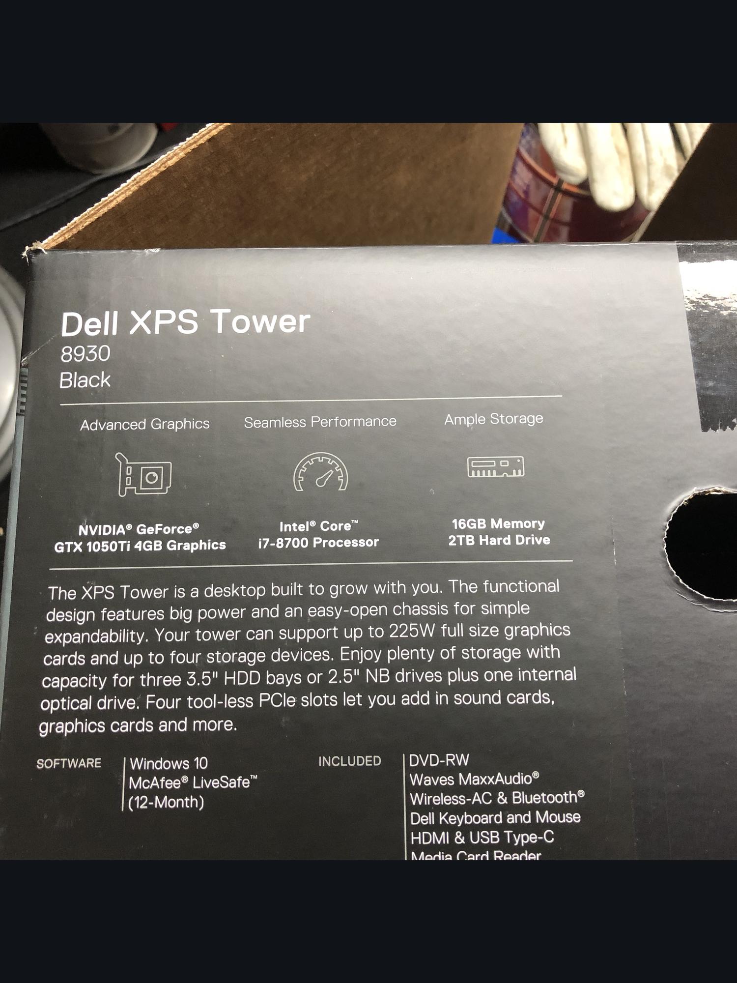 Sold: Dell XPS 8930 Desktop PC - Local Sale - FM Forums