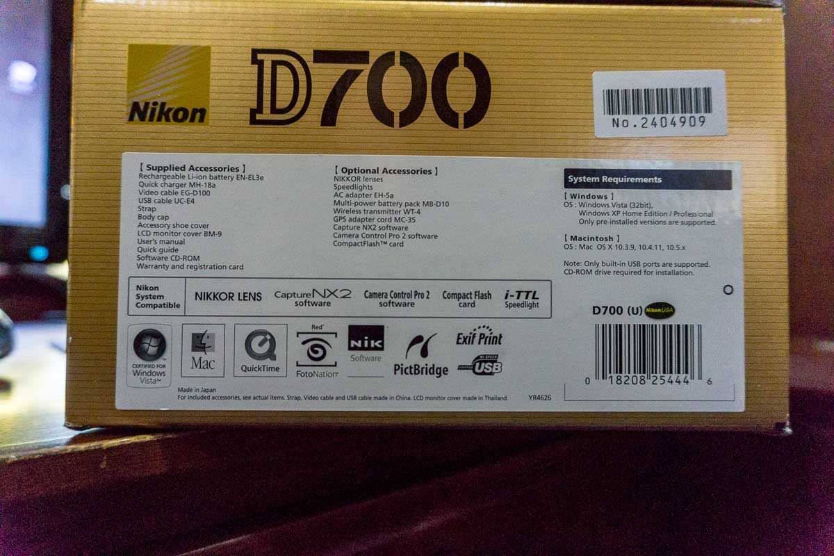 Sold: D700 like new in box - FM Forums