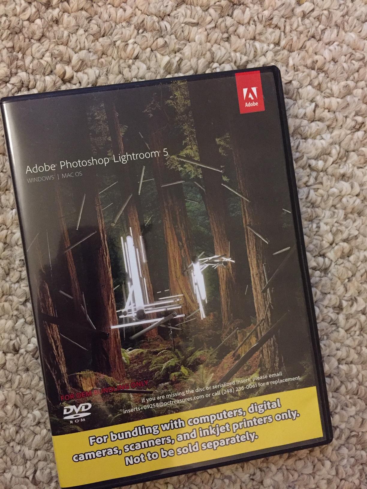Sold: Adobe Lightroom 5 disc and key code - FM Forums