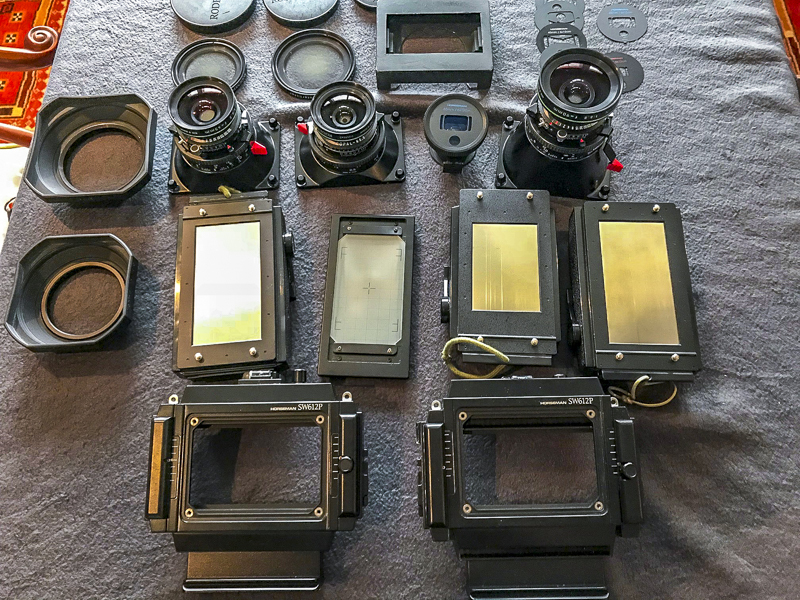0 Three Roll Film Backs Two 6X12 One 6X9 Sekonic L 508 Lightmeter Miscellaneous Darkcloth Loupe LowePro Backpack Which Fits All Of The Above
