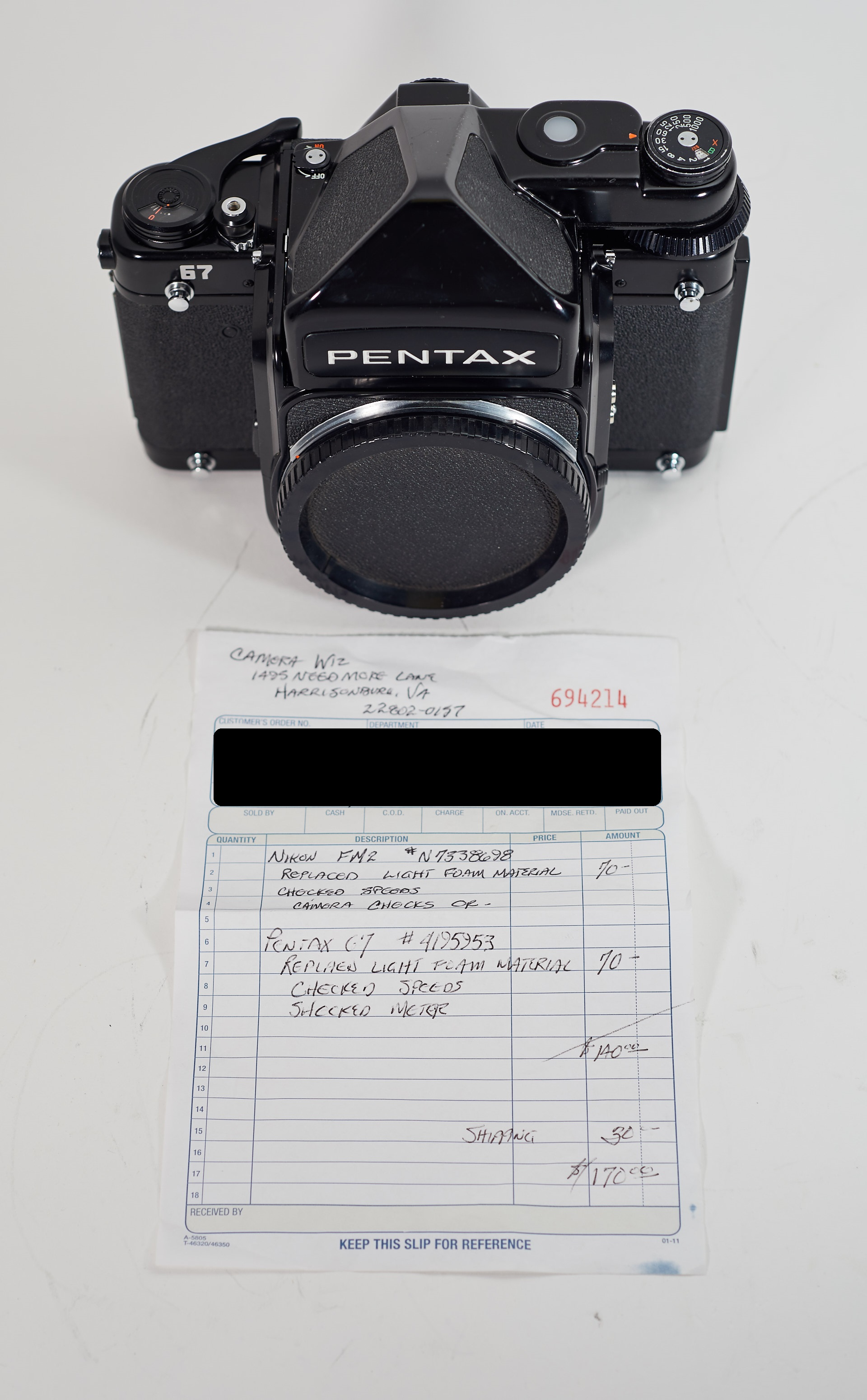 Pentax 67 body with meter prism (picture updated) - FM Forums