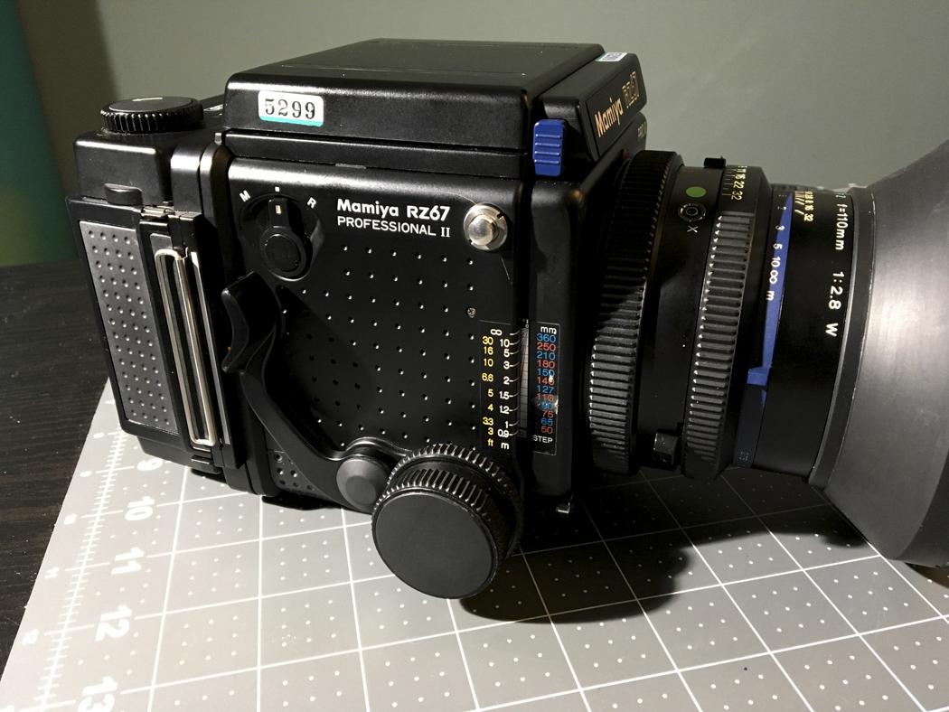 Withdrawn: Mamiya RZ Pro II with 110mm f/2 8 & 120 and